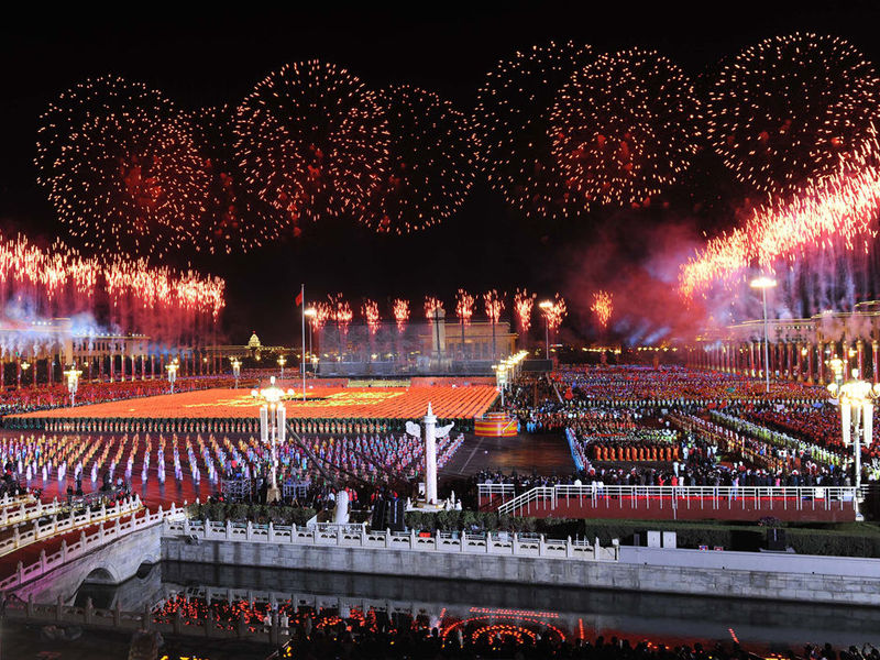 国庆60周年焰火燃放